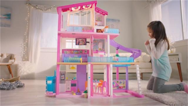 Barbie Dream House Dollhouse W Pool Slide Elevator Fhy73 Barbie